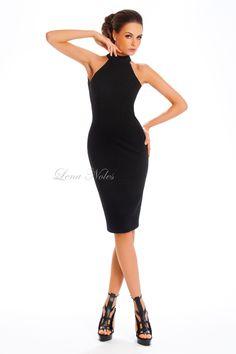 f1d8cea993a Коктейльное черное платье с открытой спиной купить за 19 500 руб. в  интернет-магазине платьев Lena Noles - lenanolres.ru