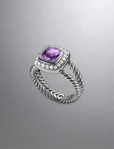 Petite Albion Ring, Lavender Amethyst