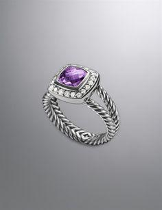 Petite Albion Ring, Lavender Amethyst