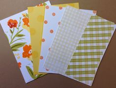 Crafting While I Wait: Mixing & Matching Patterned Papers