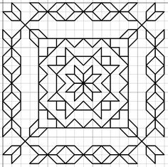 The Latest Trend in Embroidery – Embroidery on Paper - Embroidery Patterns Motifs Blackwork, Blackwork Cross Stitch, Blackwork Embroidery, Paper Embroidery, Cross Stitch Embroidery, Embroidery Patterns, Cross Stitch Patterns, Graph Paper Drawings, Graph Paper Art