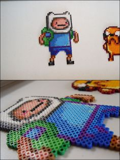 Adventure Time - Finne - bead sprite magnet