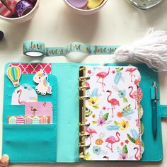 I'm in love with my Recollections planners! Especially these dividers in this gorgeous teal blue planner!