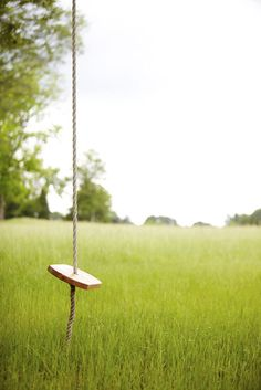 A ride on a simple rope swing is the perfect way to pass a summer afternoon. Credit: Stacey Van Berkel #southernmade #gardenandgun