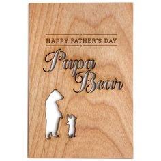 Father's Day Unique Real Wood Greeting Cards | Jane