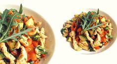Low-Carb Zucchini-Putenpfanne