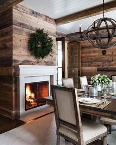 white-painted tongue and groove wood ceiling with different orientations, and new barnboard wide wood plank walls