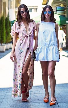 summer-work-outfit-wedding-guest-dress-lwd-little-white-dress-floral-maxi-dress-summer-party-via-people and style- Street Style Summer, Casual Street Style, Street Chic, Street Style Women, Beautiful Summer Dresses, Look Boho, European Fashion, Floral Maxi Dress, Diy Dress
