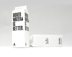 Started with the simple idea of creating a new bottled water brand that is kinder to the environment and gives back a bit - we found that it shouldn't be bottled at all, but instead, boxed. So we looked to the past for inspiration in the century old beverage container and decided to keep things simple, sustainable, and beautiful. (AWESOME!!!)