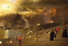 Stunning fantasy world created by Eugenio Zanetti for the film What Dreams May Come. This film won the Oscar in for Best Visual Effects Sad Movies, Sci Fi Movies, Robin Williams, Cuba Gooding, Oscar Winning Movies, What Dreams May Come, The Neverending Story, Movie Shots, Kino Film