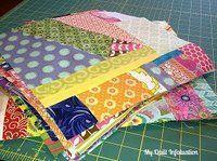 Speedy Scrappy Improv Quilt Blocks