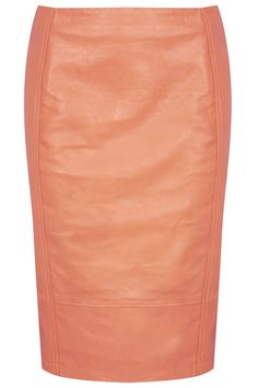 Leather Panel Pencil Skirt - Topshop
