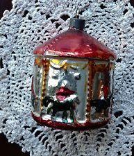 Carousel Christmas Ornament Bumpy Glass