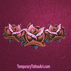 Floral temporary tattoo Tattoo P, Temp Tattoo, Temporary Tattoo Sleeves, Temporary Tattoos, Design Tattoo, Tattoo Designs, Graphic Design Projects, Design Art, Web Design