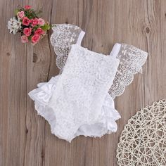 This White Princess Romper is perfect for your adorable little princess! Available for 0-18 months. Get it here https://petitelapetite.com/products/white-princess-romper