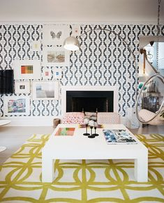 Lonny Magazine May/June 2011 | Photography by Patrick Cline; Interior Design by Lisa Sherry...That wallpaper!!!