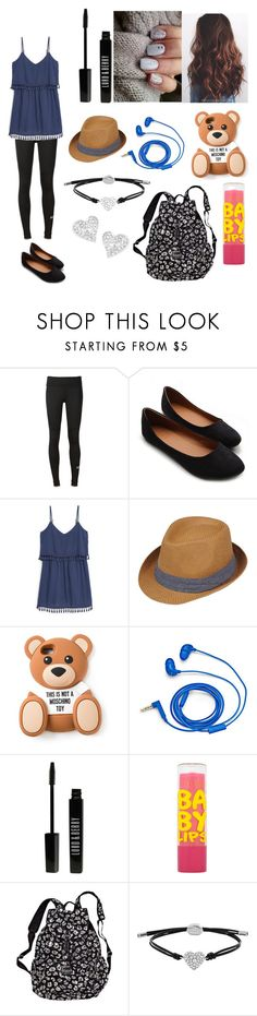 """""""Simple School Day!"""" by swagger652 ❤ liked on Polyvore featuring adidas, Ollio, MANGO, Black Rivet, Moschino, FOSSIL, Lord & Berry, Maybelline, Victoria's Secret and Vivienne Westwood"""