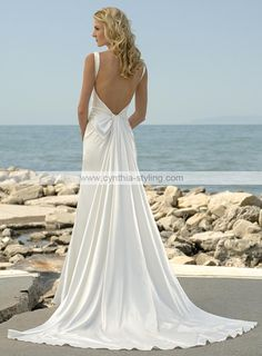 LOVE the back, flowy and gorgeous