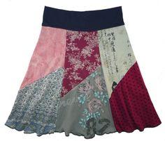 Upcycled teeshirt skirts