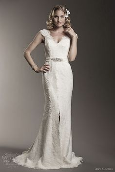 amy kuschel bridal 2012 rita mermaid fit and flare wedding dress #mermaid #wedding #weddingdress