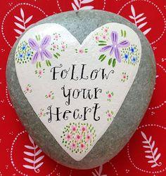 Nantucket Mermaid: More Valentine's Day Heart Rocks
