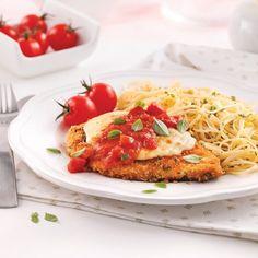 Escalopes de poulet parmigiana Restaurant Drinks, Confort Food, Hot Dog, Bruschetta, Salmon Burgers, Summer Recipes, Chicken Recipes, Nutrition, Food Porn
