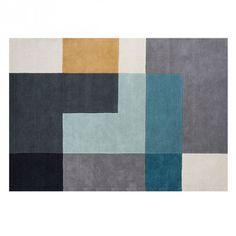 MONOQI | 200x300 Tetris Teppich - Blau