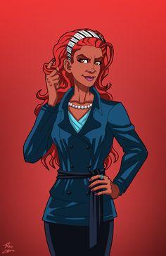 Jezebel Jet commission by phil-cho on DeviantArt Superhero Template, Black Cartoon, Dc Characters, Marvel Vs, Gotham City, Dark Horse, Comic Covers, Comic Art, Character Art