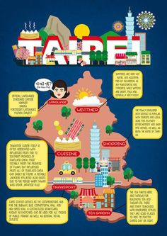 Illustrated Travel Guide of Taipei by Edinburgh based illustrator Liv Wan. These illustrations depict some of my favourite parts of Taipei Taipei Travel Guide, Taiwan Travel, Travel Maps, Asia Travel, Beach Travel, Taipei Taiwan, Taipei 101, Thinking Day, Destinations