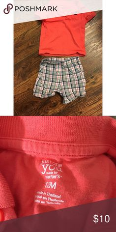 bfb1c4eb96 NWOT CARTERS Plaid Salmon Color Outfit •New without tags •Gorgeous salmon  color with gray