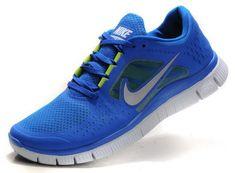 Nike Free Run +3 Mens Womens Blue Grey