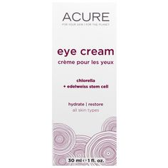 Chlorella + Edelweiss Eye Cream, 1fl oz(30 ml) | Acure Organics