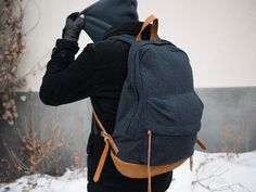 Jan 26 2014 | dweller daypack wool wool mix dobby melton NN-BG2204 japan navy fashion backpack gloves winter back hoody sweater fabric