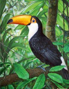 pinturas-de-paisajes-decorativos-con-aves
