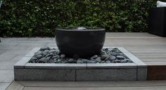 water-feature in modern courtyard