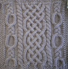 Ravelry: November Aran Afghan Square (Woolen Collectibles) pattern by Marin Melchior