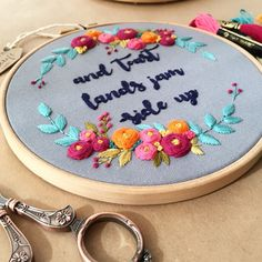 Personalized embroidery hoop art ..