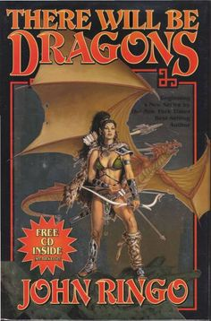CLYDE CALDWELL - There Will Be Dragons by John Ringo - 2003 Baen Books