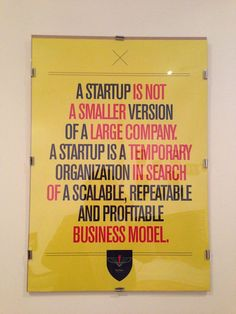 But the organization created is not necessarily temporary. #startup #entrepreneurship #scalability
