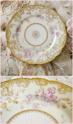 Stunning Antique Haviland Limoges Porcelain Plate by Jenneliserose