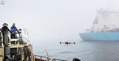 DENMARK's Maersk Group is experimenting with the use of drones for delivering goods, after Maersk Tankers collaborated with drone maker Xamen Technologies to successfully deliver a tin of biscuits to a bulk tanker, and is