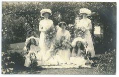Edwardian photograph of bride circa 1905