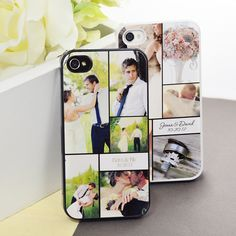 Custom Photo Collage iPhone Case    See your best wedding photos every day with this customize-able iPhone case from www.tradingvows.com
