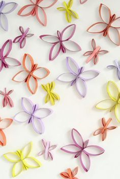 Aprende como hacer estas hermosas mariposas usando solo unos inservibles tubos de papel higiénico ¡preciosas! - Ideas crear