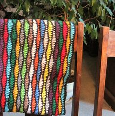 This blanket can be made any size you would like. Intermediate skill is required for this project. Designer recommends using the Russian Join method to join scraps of yarn together and then rolling them into a ball for ease of use.