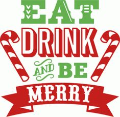 Silhouette Design Store - View Design #70096: eat drink and be merry word art
