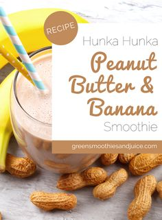 This smoothie is an Ode to Elvis and a real treat!