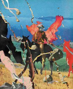 Rocks, Rifle and a Burning Cowboy Format: 108x131cm  Artwork