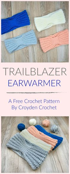 The Trailblazer Crochet Earwarmer is a fun beginner crochet pattern that works up quickly! The Trailblazer Crochet Earwarmer is a great beginner earwarmer pattern that is both quick and functional. Seriously, I made four of these earwarmers in Crochet Afghans, Crochet Yarn, Easy Crochet, Crochet Crafts, Doilies Crochet, Tutorial Crochet, Crochet Tutorials, Yarn Crafts, Diy Crafts