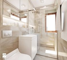 Szeregowiec dla 5-osobowej rodziny - Mała łazienka z oknem, styl klasyczny - zdjęcie od Boho Studio